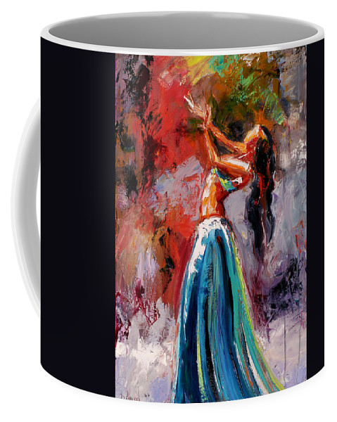 Dance Art Coffee Mug featuring the painting Eve's Dance by Debra Hurd