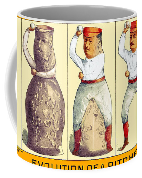 Drawing Coffee Mug featuring the photograph Evolution Of A Pitcher by Maria Coulson