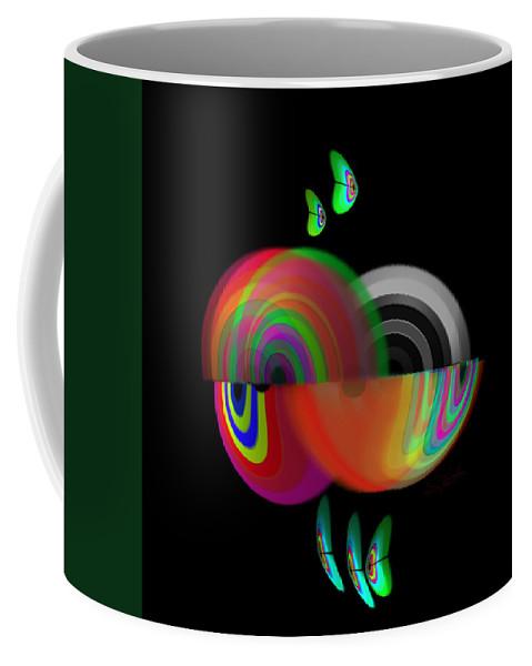 Molusc Coffee Mug featuring the digital art Evolution Revolution by Charles Stuart