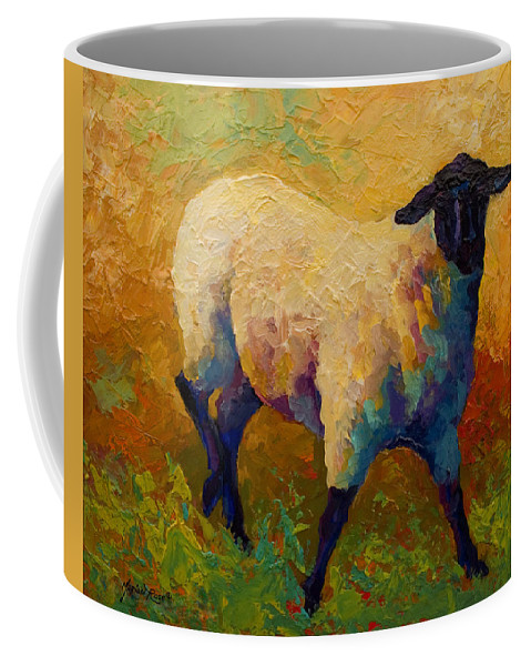 Sheep Coffee Mug featuring the painting Ewe Portrait Iv by Marion Rose