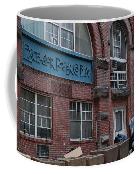 Arches Coffee Mug featuring the photograph Excelsior Power Co by Rob Hans