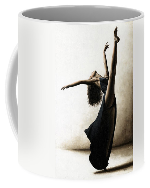 Dance Coffee Mug featuring the painting Exclusivity by Richard Young