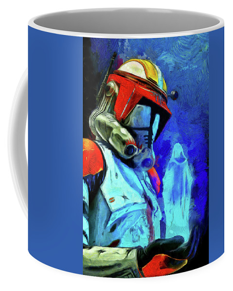Execute Order 66 Coffee Mug featuring the painting Execute Order 66 Remake by Leonardo Digenio
