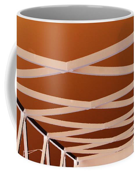 Bridge Coffee Mug featuring the photograph Exes- Red by Jamie Lynn