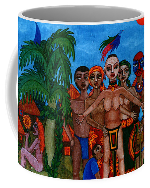 Homeland Coffee Mug featuring the painting Exiled In Homeland by Madalena Lobao-Tello