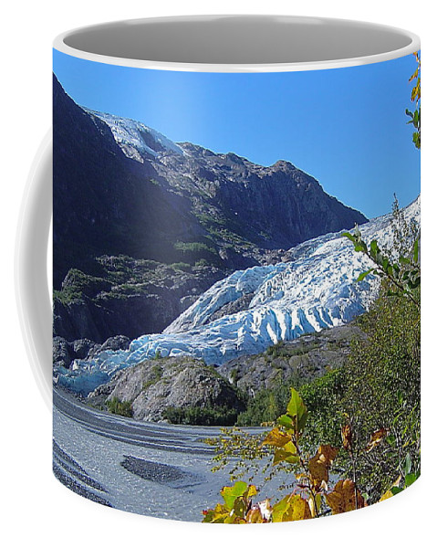 Glacier Coffee Mug featuring the photograph Exit by Rick Monyahan