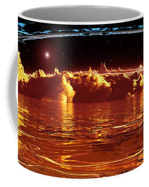 Cloud Coffee Mug featuring the digital art Exogatus by Max Steinwald