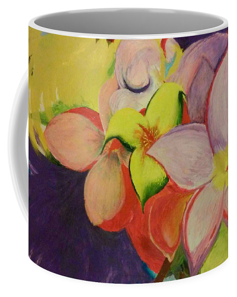 Flowers Coffee Mug featuring the painting Exotic Flowers From The Islands by Robert Martin