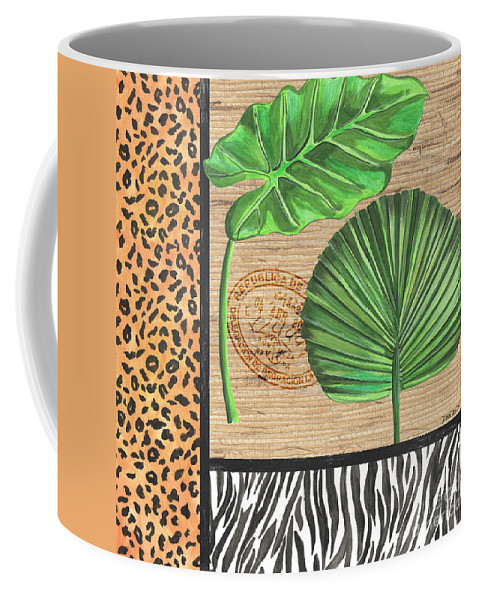 Tropical Coffee Mug featuring the painting Exotic Palms 2 by Debbie DeWitt