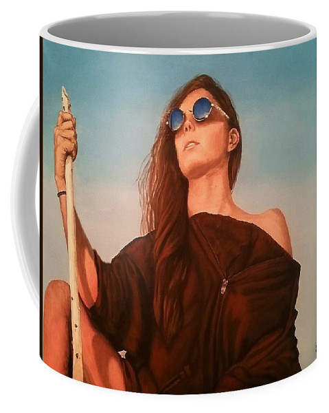Painting Coffee Mug featuring the painting Expedition by Sheryl Gallant