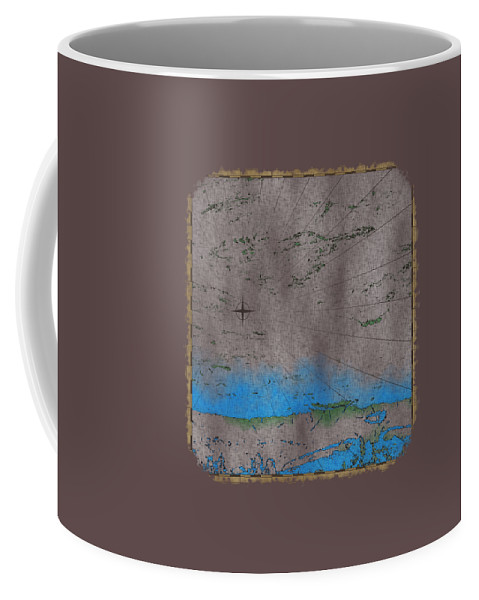 Cartography Coffee Mug featuring the photograph Explorer Gray by John M Bailey