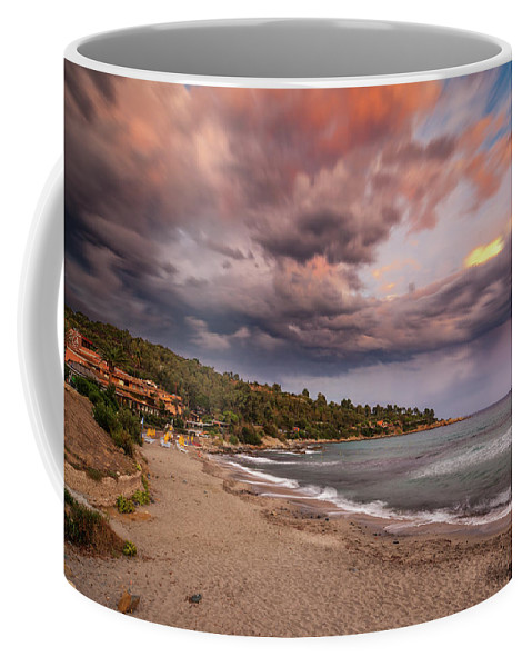 Scenery Coffee Mug featuring the photograph Explosion Of Colored Clouds by Daniele Fanni