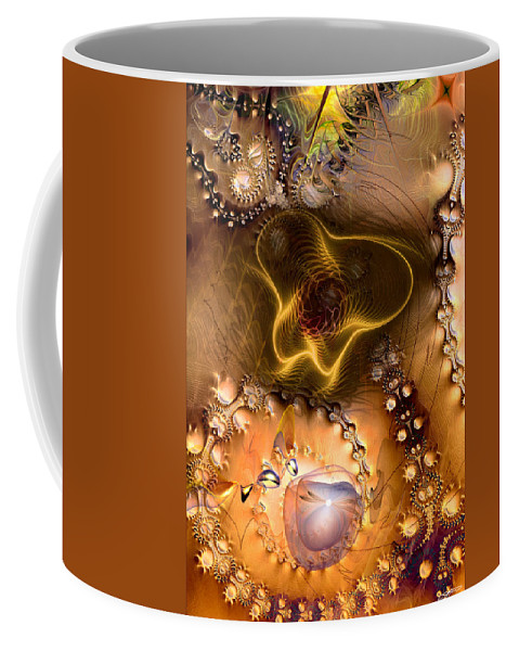Abstract Coffee Mug featuring the digital art Exposition On The Expanded Universe by Casey Kotas