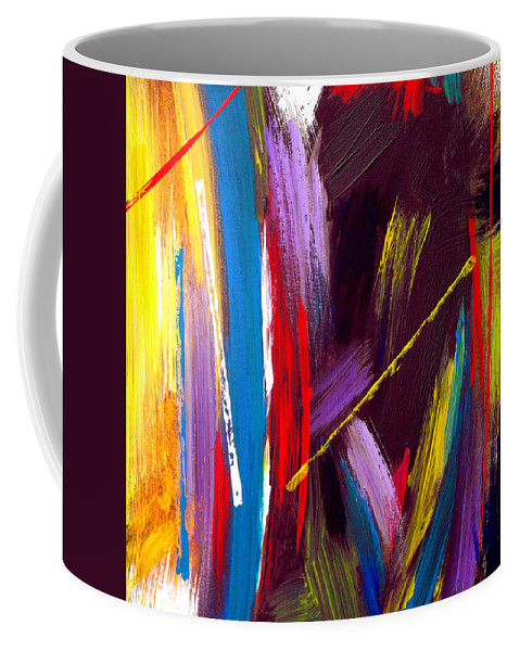 Abstract Coffee Mug featuring the painting Express Yourself by Ruth Palmer
