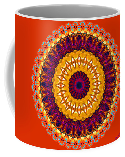 Digital Coffee Mug featuring the digital art Expression No. 7 Mandala by Joy McKenzie