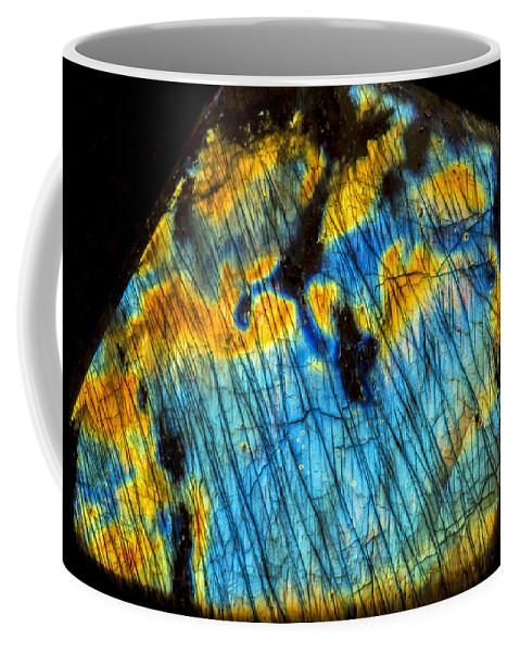 Labradorite Coffee Mug featuring the photograph Exquisite Luminescence by Robert Storost