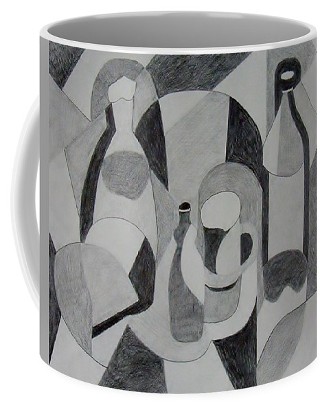 Pencil Coffee Mug featuring the drawing Extended Line by Jamie Frier