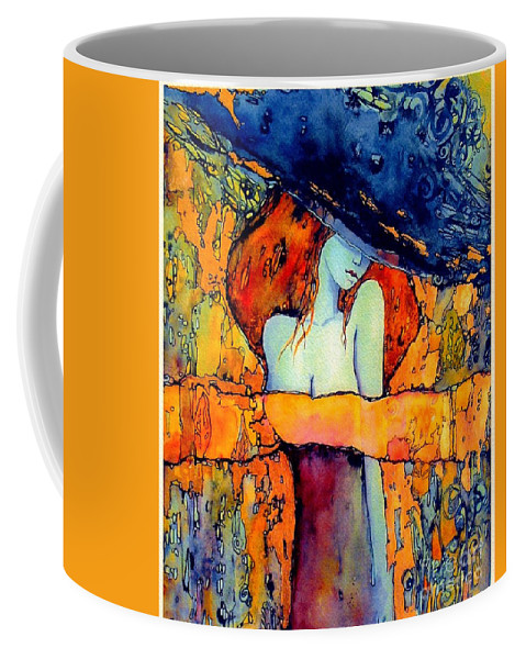 Red Coffee Mug featuring the painting Extravagance by Suzann Sines