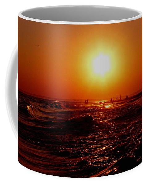 Beach Coffee Mug featuring the photograph Extreme Blazing Sun by Kendall Eutemey