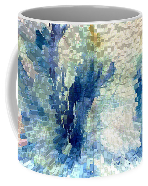 Abstract Coffee Mug featuring the painting Extrude by Steve Karol