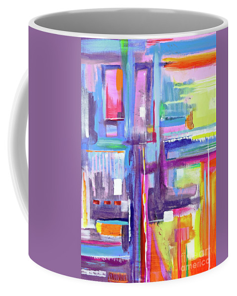 A Scape. New Series Begins Here.and The Title Eyedropper Coffee Mug featuring the painting Eye Dropper by Priscilla Batzell Expressionist Art Studio Gallery