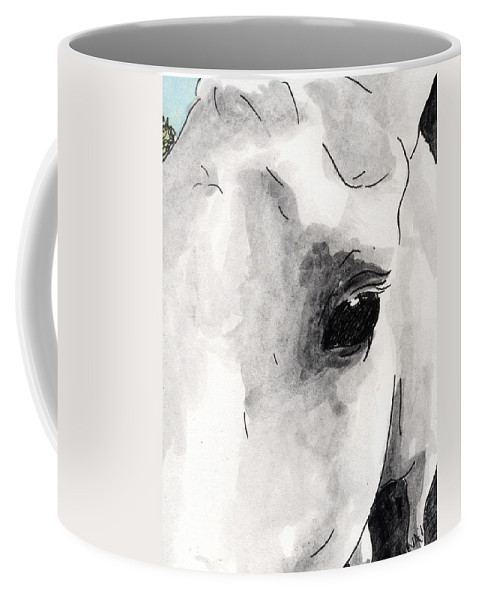 Horse Paintings Coffee Mug featuring the painting Eye Of The Beauty by Anna Katherine