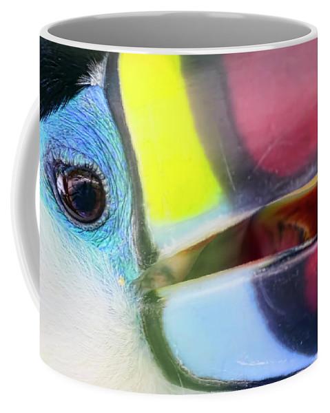 Toucan Coffee Mug featuring the photograph Eye Of The Toucan by Nadia Sanowar
