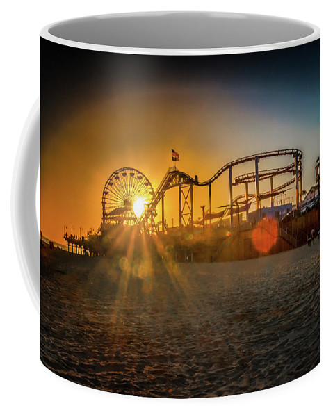 Sunset Coffee Mug featuring the photograph Eye Of The Wheel by Mark Dunton