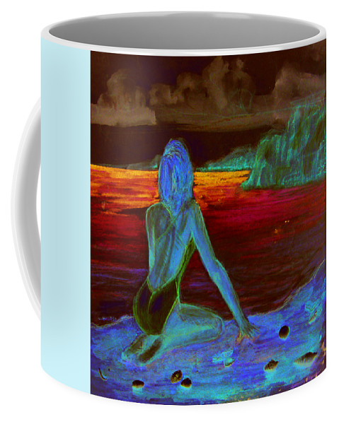Female Coffee Mug featuring the painting Eye On Horizon by Shelley Myers