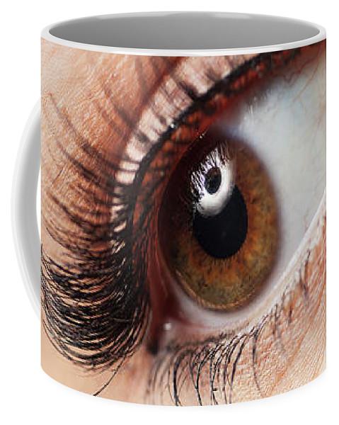 Eye Coffee Mug featuring the photograph Eye by Samuel Whitton