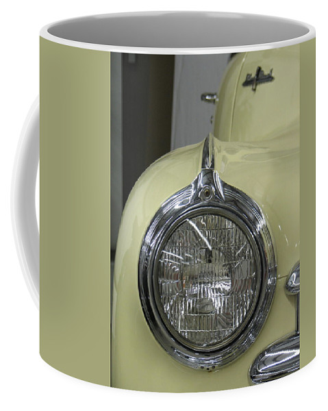 Headlight Coffee Mug featuring the photograph Eye See You by Kelly Mezzapelle