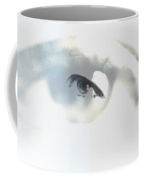 Coffee Mug featuring the digital art Eye With In by Keevay Stierwalt