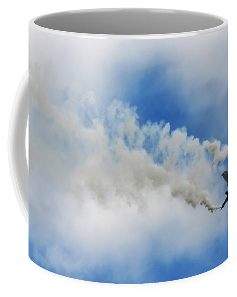F-16 Coffee Mug featuring the photograph F-16 Fighting Falcon by Angel Tarantella