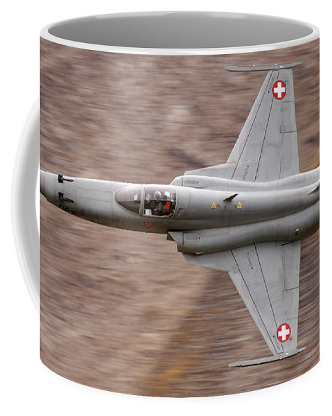 Axalp Coffee Mug featuring the photograph F-5 by Angel Ciesniarska