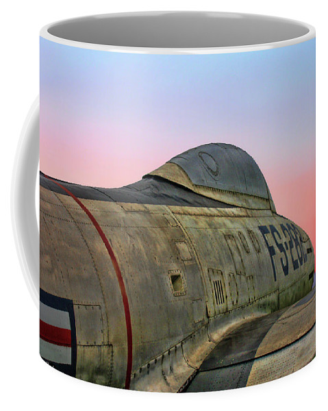 Republic F-84g Thunderjet Coffee Mug featuring the photograph F-84g Thunderjet by Tommy Anderson