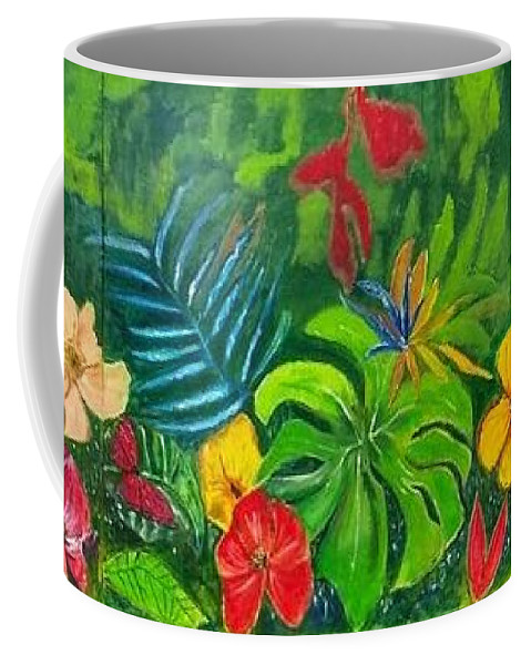 Nature Coffee Mug featuring the painting F E E L S by Belinda Low