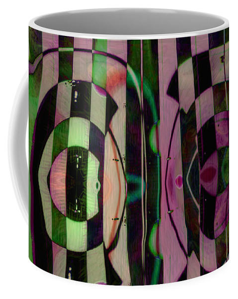 Face To Face Coffee Mug featuring the digital art Face 2 Face by Linda Sannuti
