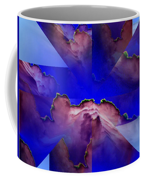 Clouds Coffee Mug featuring the digital art Face Cloud Illusion by Tim Allen