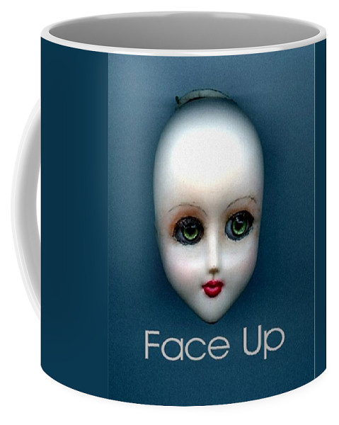 Face Up Coffee Mug featuring the photograph Face Up by T Cook
