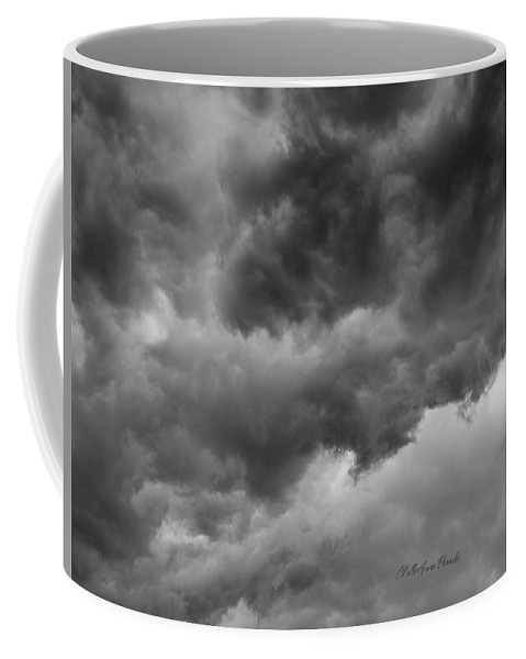 Clouds Coffee Mug featuring the photograph Faces In The Mist Of Chaos by ChelleAnne Paradis