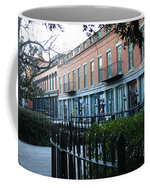 Wrought Iron Coffee Mug featuring the photograph Factors Walk Stores by Carol Groenen