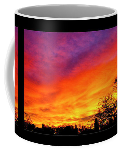 Fair Oaks Coffee Mug featuring the photograph Fair Oaks Sunset by Soroush Mostafanejad