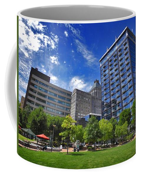 Nature Coffee Mug featuring the photograph Fair Weather Center City Park Greensboro by Matt Taylor