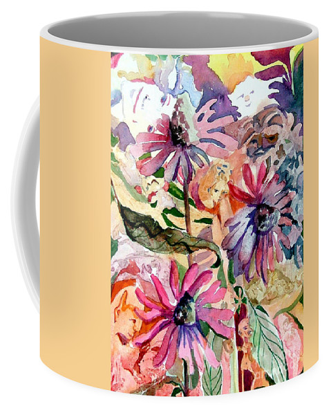 Daisy Coffee Mug featuring the painting Fairy Land by Mindy Newman