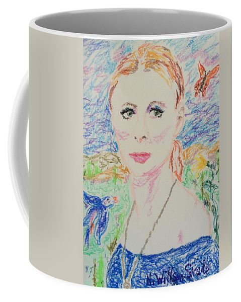 Fairy Queen Coffee Mug featuring the drawing Fairy Queen by N Willson-Strader