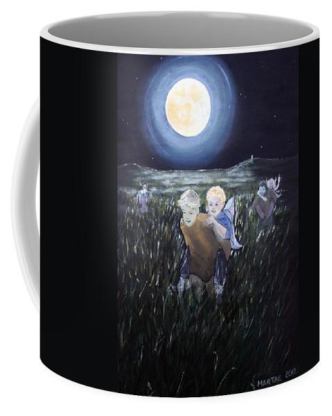 Fairy Races At Tara Coffee Mug featuring the painting Fairy Races At Tara by Martine Murphy