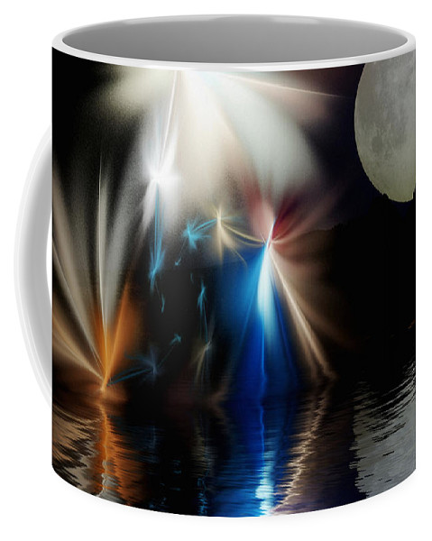 Digital Painting Coffee Mug featuring the digital art Fairy's Moonlight Ball by David Lane