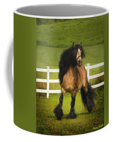 Horses Coffee Mug featuring the photograph Falcon C2 by Fran J Scott