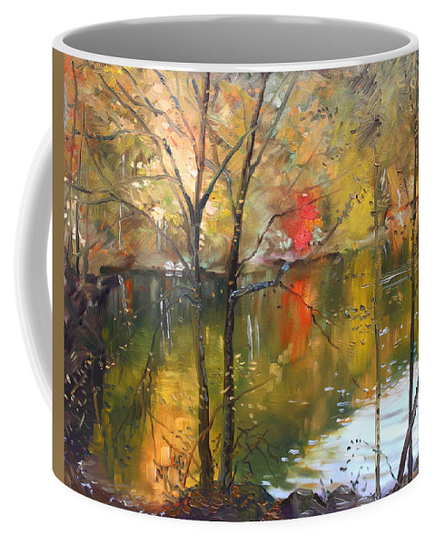 Landscape Coffee Mug featuring the painting Fall 2009 by Ylli Haruni