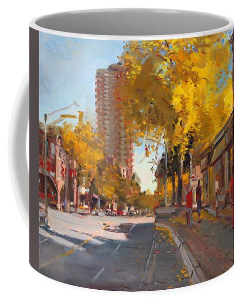 Fall In Canada Coffee Mug featuring the painting Fall 2010 Canada by Ylli Haruni
